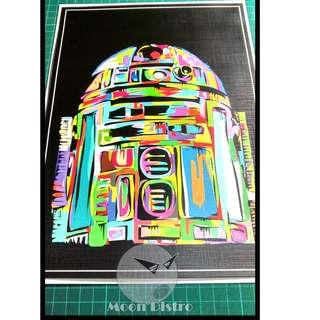 Star Wars PVC Stickers - Canvas (R2D2)
