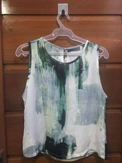 Maldita Sleeveless Top - Green (LARGE)