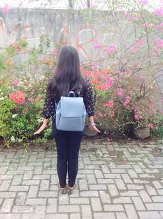 Miniso blue backpack