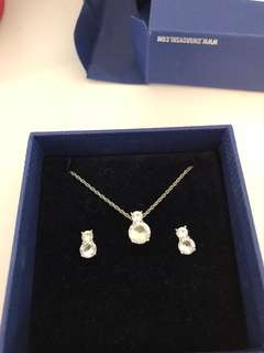 Swarovski Necklace & Earring Set