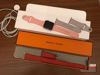 Apple Watch series 1 Hermes 38mm Double Tour Capucine