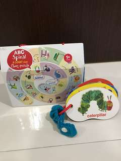 Toddler ABC puzzle + Eric Carle Cutouts