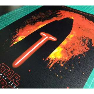 Star Wars PVC Stickers - Leather (The Last Jedi Poster Movie)