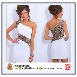 #22 📦◾[ 🅿re🅾rder ]◾📦Summer Sequins BodyCon Lace Evening Sexy Party Cocktail MINI Dress