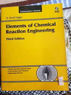 CN2116 elements of Chemical reaction engineering