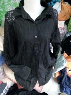 Brukat katun blouse L&xl