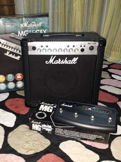 MURAH MURAH MURAH!!! Marshall Amplifier MG15CFX + Marshall Footswitch