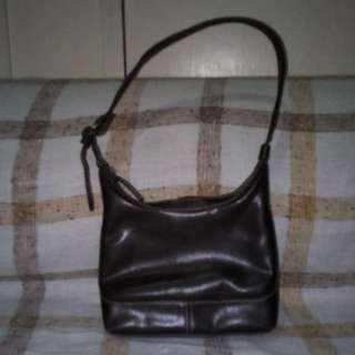 Nine West Brown Leatherette Hand Bag