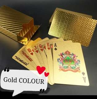 Gold POKER Card