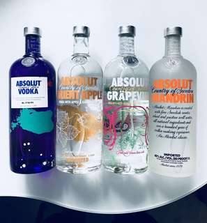 Absolut Limited Editions / Assorted Flavours Vodka 1L