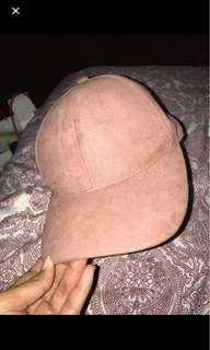 H&m pink suede cap