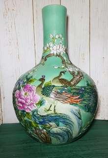 Green Globular Shape Vase