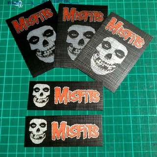 Music PVC Stickers - Silver Canvas (The Misfits)