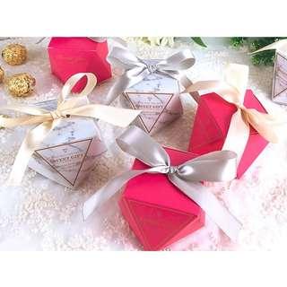 Marble Diamond Wedding Table Gift Box