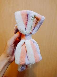粉紫色頭巾