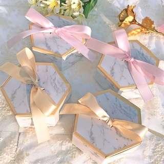 Hexagon Wedding Table Gift Box