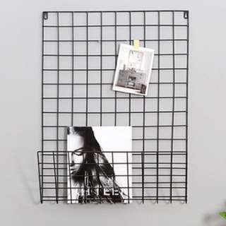 Photo wall metal grid