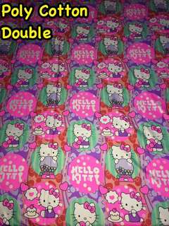 Double Poly Cotton Bed sheet