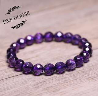 Amethyst 8mm purple Bracelet