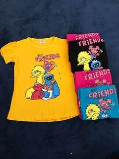 Girl sesame st Tshirt