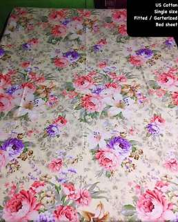 Single US cotton bed sheets