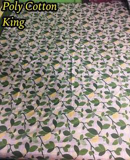 King Poly Cotton bed sheets floral