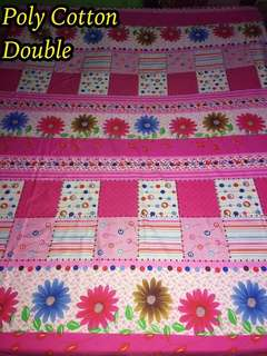 Double Poly Cotton Bed sheets