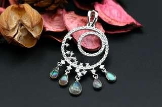 Navia Jewelry Real Butterfly Wing Doxocopa cherubina Silver Pendant Korea
