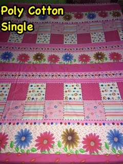 Single Poly Cotton bed sheets floral