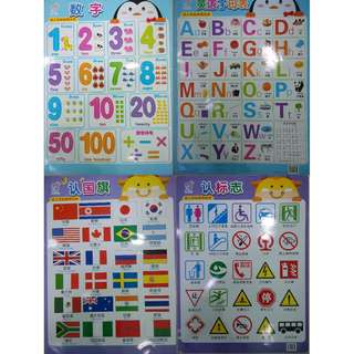 brand new learning wall chart for kids