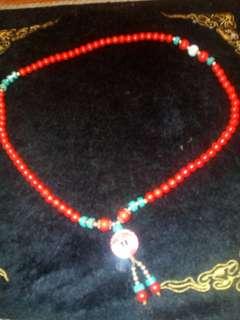 🚚 紅色彩珠項鍊