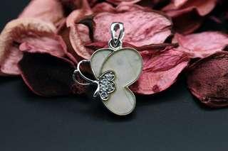 Navia Jewelry Real Butterfly Wing Morpho sulkowski Silver Pendant Korea