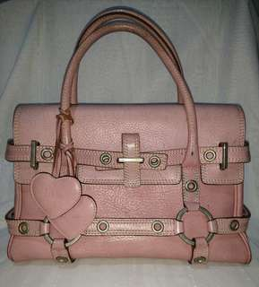 Pink Leather Luella Hand Bag