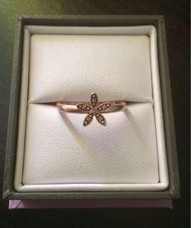 Michael Hill 10kt Rose Gold Flower Stack Ring