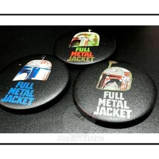 Star Wars Button Badges 58mm (Rough Matte) 7pcs (Full Metal Jacket Page 2)