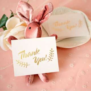 Wedding Table Gift Thank You Card Present