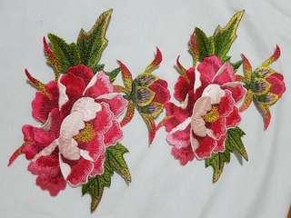 Iron-On Flower Set of 2pcs