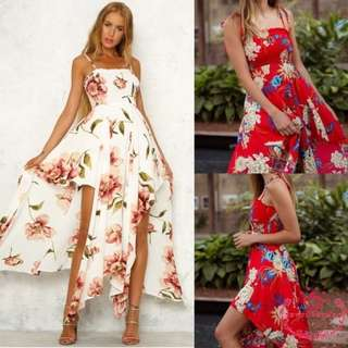 🚚 [PRE-ORDER] New Fashion Summer Slim Belt Print Dresses Cocktail Party Summer Beach