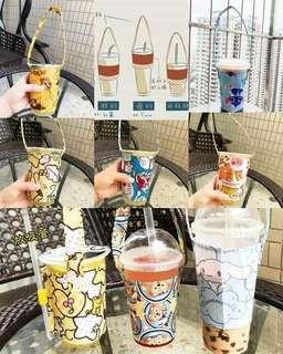 現貨 環保飲料杯套 手提飲料袋