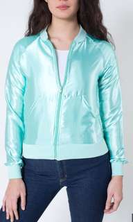 American Apparel Unisex Satin Charmeuse Nigh Jacket XS