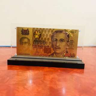 Gold One Thousand Dollar Banknote