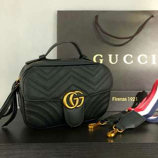 Gucci GG Marmont Crossbody Sling Black Bag