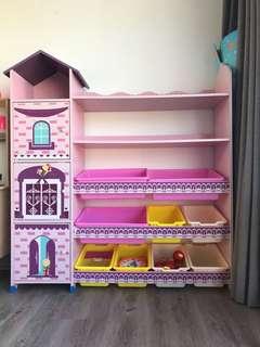 Princessy book shelf and toy rack
