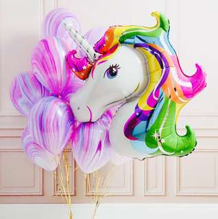 UNICORN FOIL BALLOON DECOR
