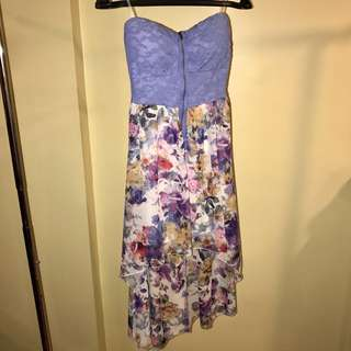 Cute strapless floral dress