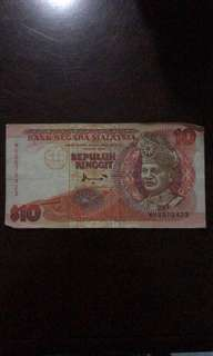 Duit RM 10 lama untuk dijual