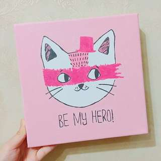 🐱(💯DIY) 慈善20*20數字油畫 - HERO貓