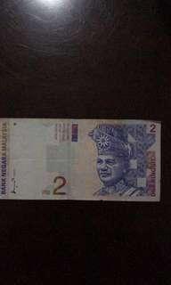 Duit RM 2 lama untuk dijual