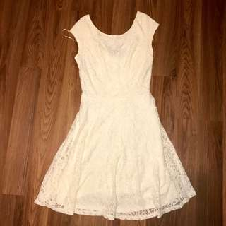 G21 white lace dress