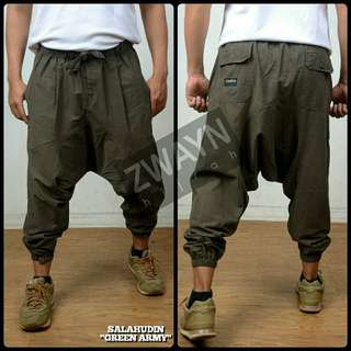 Zwayn Hijrah Casual Pants Drop crotch